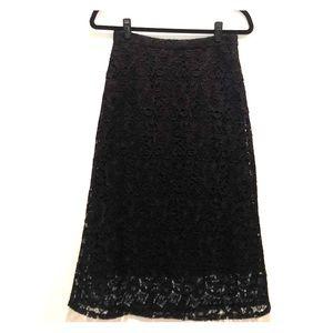 A.L.C. Lace Black Skirt